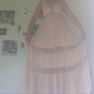 forever 21 ankle length rose colored dress :)